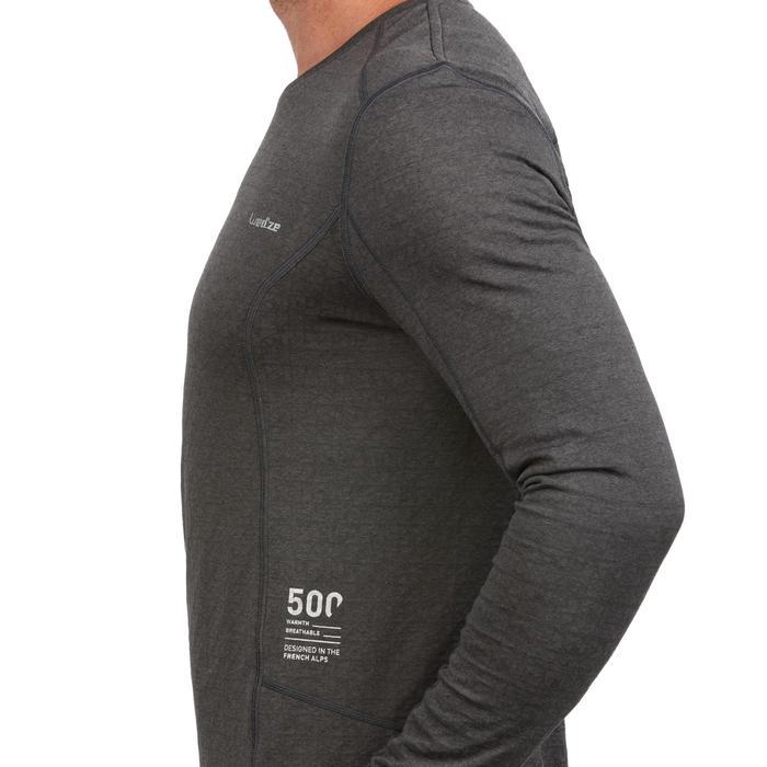 Sous-vêtement haut de ski homme 500 Gris