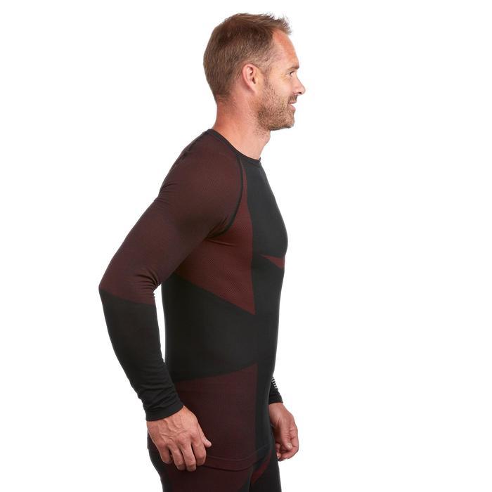 Sous-vêtement haut de ski homme 900 Noir Rouge