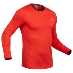 Skiondershirt voor heren 500 rood