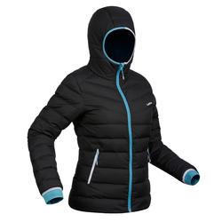 Skijacke Daunen 500 Warm Damen grau