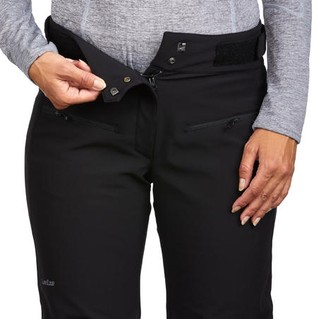 WOMEN'S DOWNHILL SKI PANTS 500 - BLACK