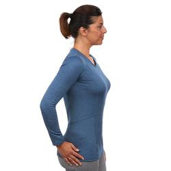 Sous-vêtement haut de ski femme 500 Bleu
