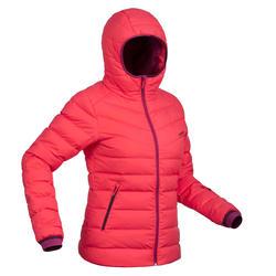 Skijacke Daunen 500 Warm Damen rosa