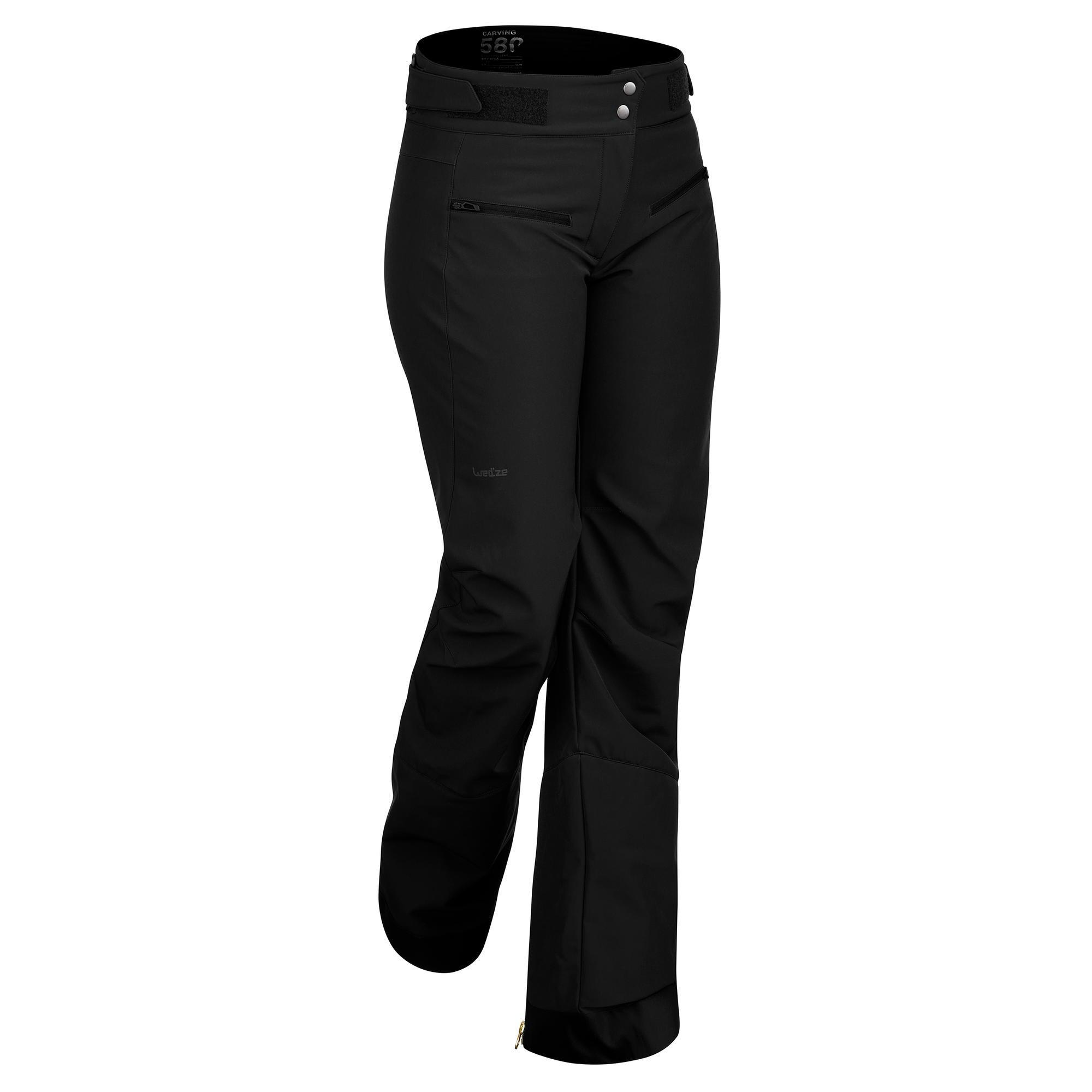 Skihose Piste PA 580 Slim Damen schwarz | Sportbekleidung > Sporthosen > Skihosen | Schwarz | Wed´ze
