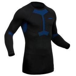 Skiondershirt heren 950 zwart/blauw