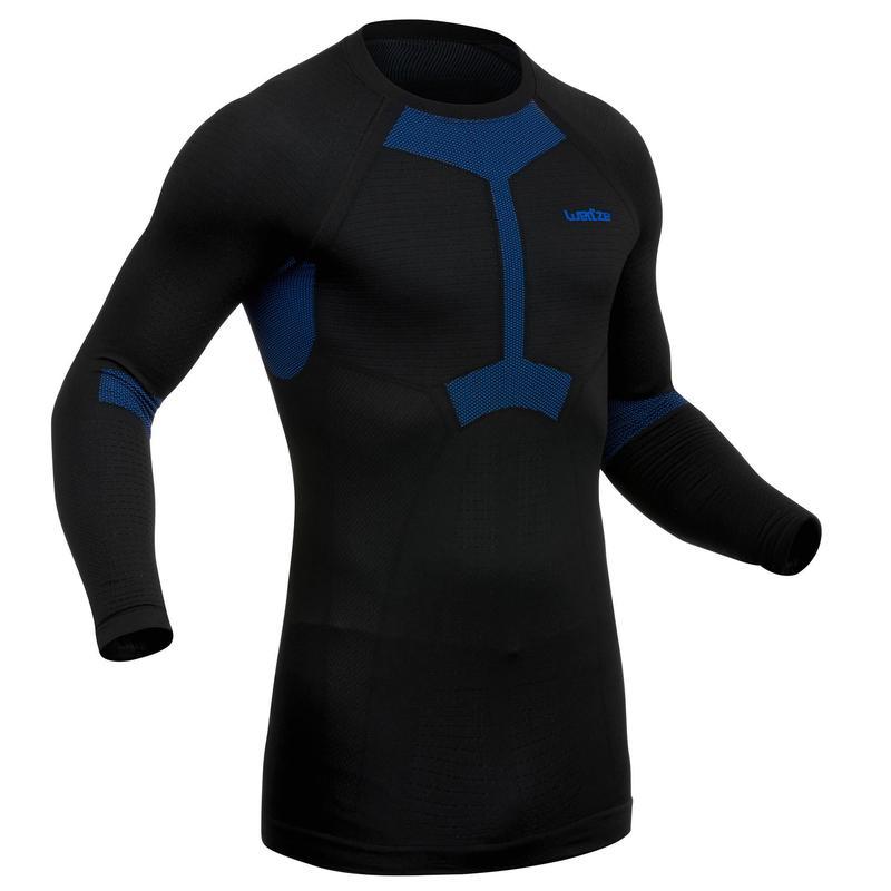 Men's Ski Base Layer Top I-Soft - Black/Blue