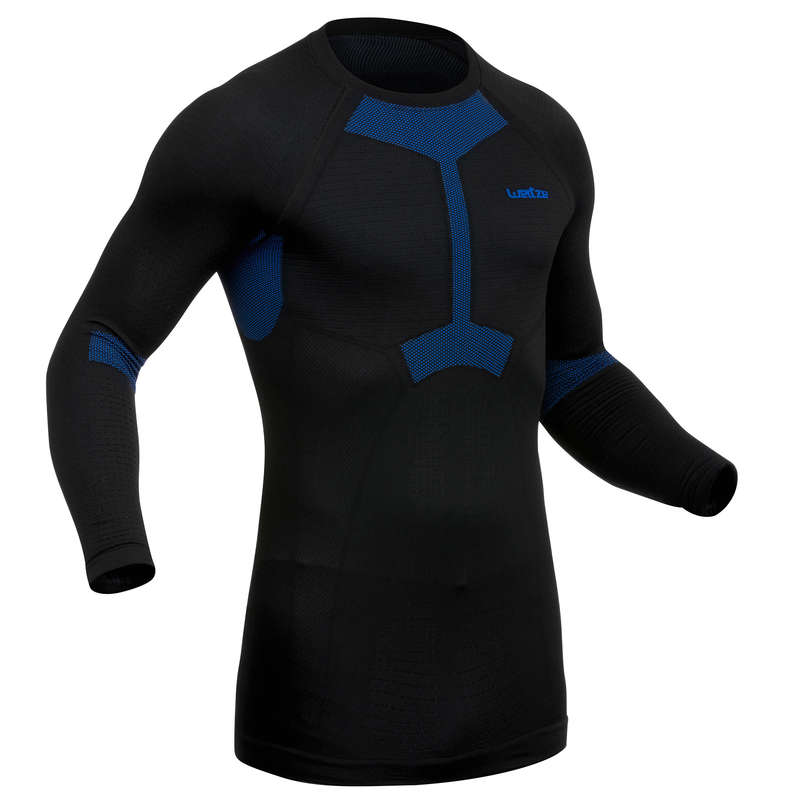 MEN SKI BASELAYER & PULL Ski Wear - M Underwear Top I-Soft - Black WEDZE - Ski Wear