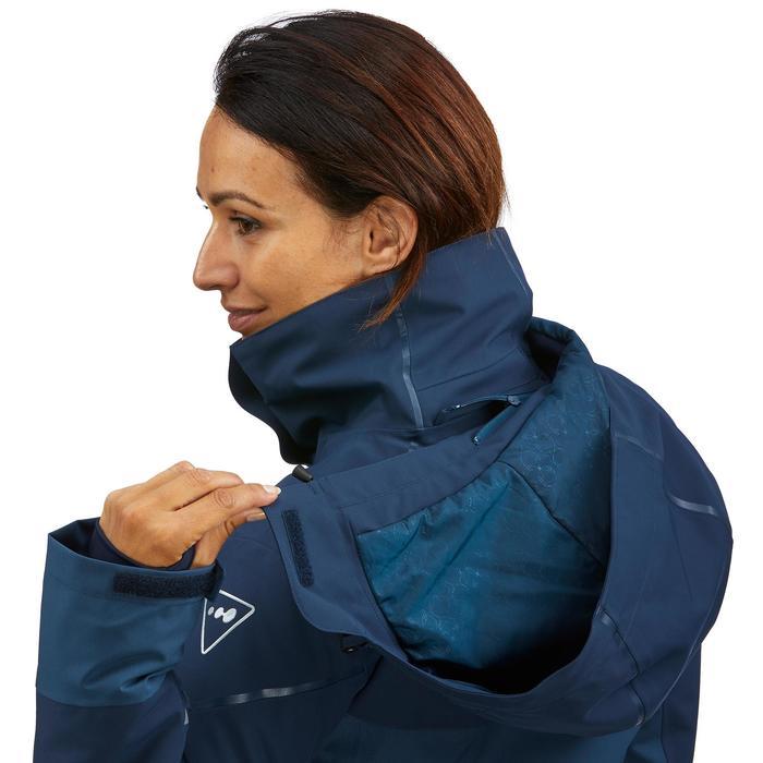 女款下坡滑雪外套580 - 藍色