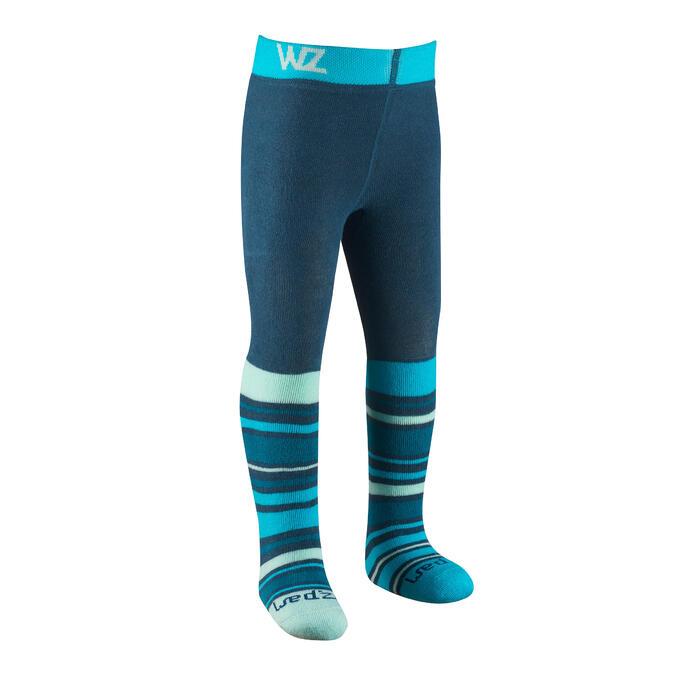 Thermobroekje voor skiën/sleeën voor peuters Warm blauw