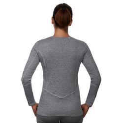 Thermisch ondershirt 500 voor skiën dames grijs