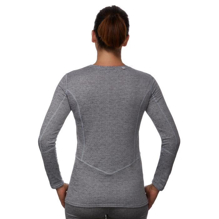 Thermoshirt ski voor dames 500 grijs