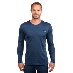Camiseta térmica Esquí y Nieve Interior Wed'ze 500 Hombre Azul