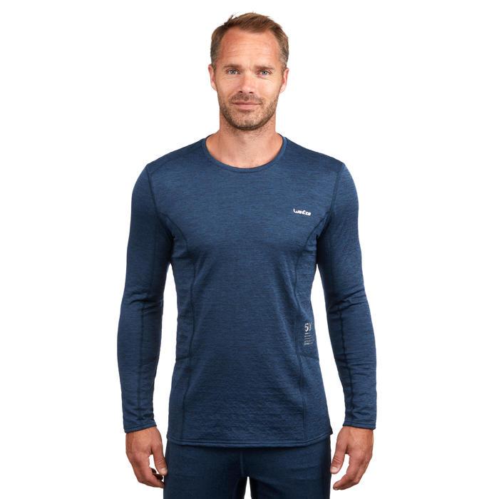 Camiseta térmica interior nieve y esquí Wed'ze 500 hombre azul