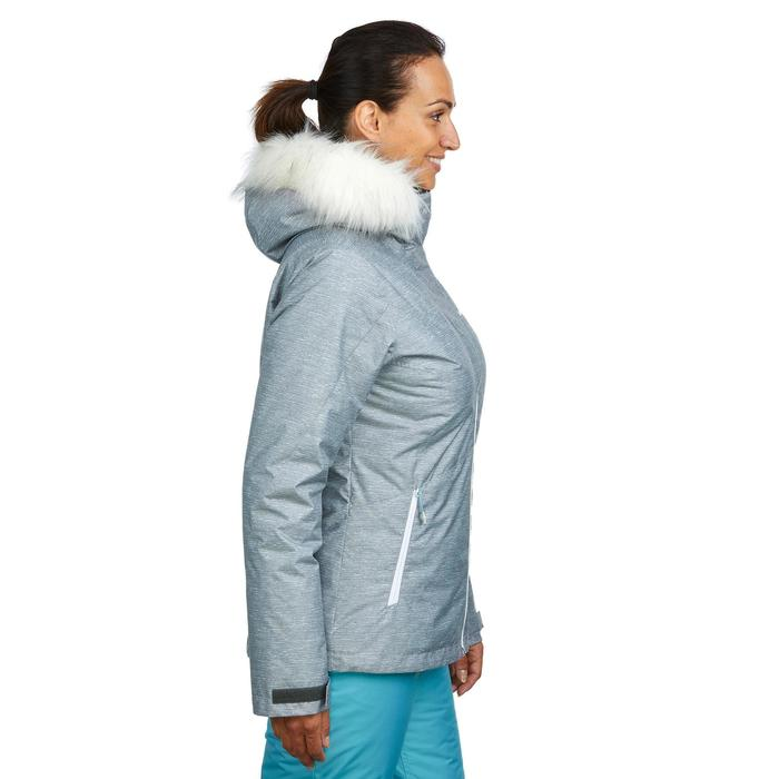 Dames ski-jas voor pisteskiën SKI-P JKT 150 grijs