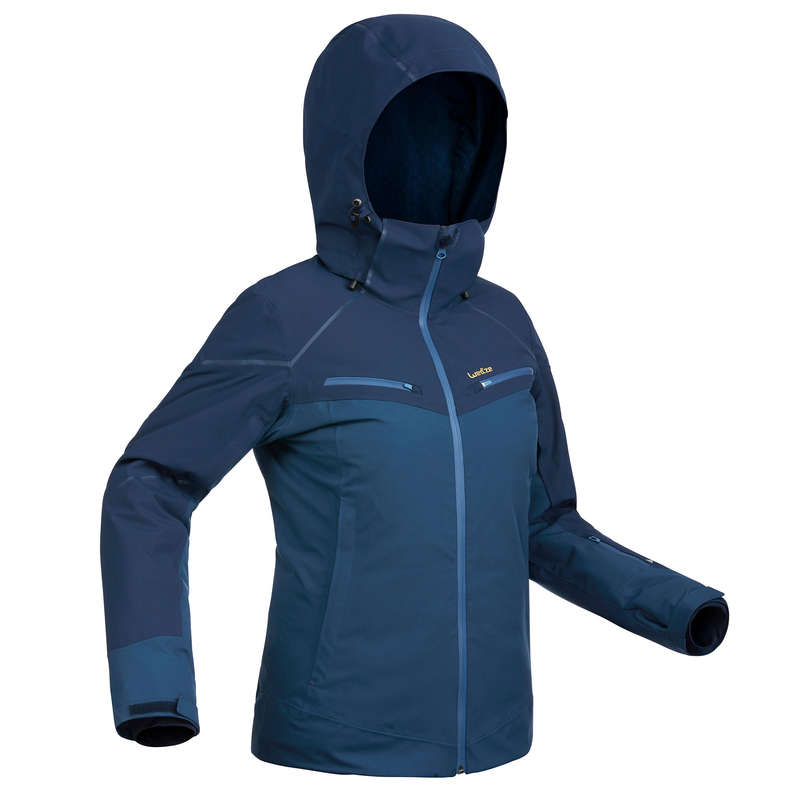 WOMEN'S JACKETS OR PANTS INTERMED SKIERS Clothing - W D-SKI Jacket 580 - BLUE WEDZE - Jackets and Coats