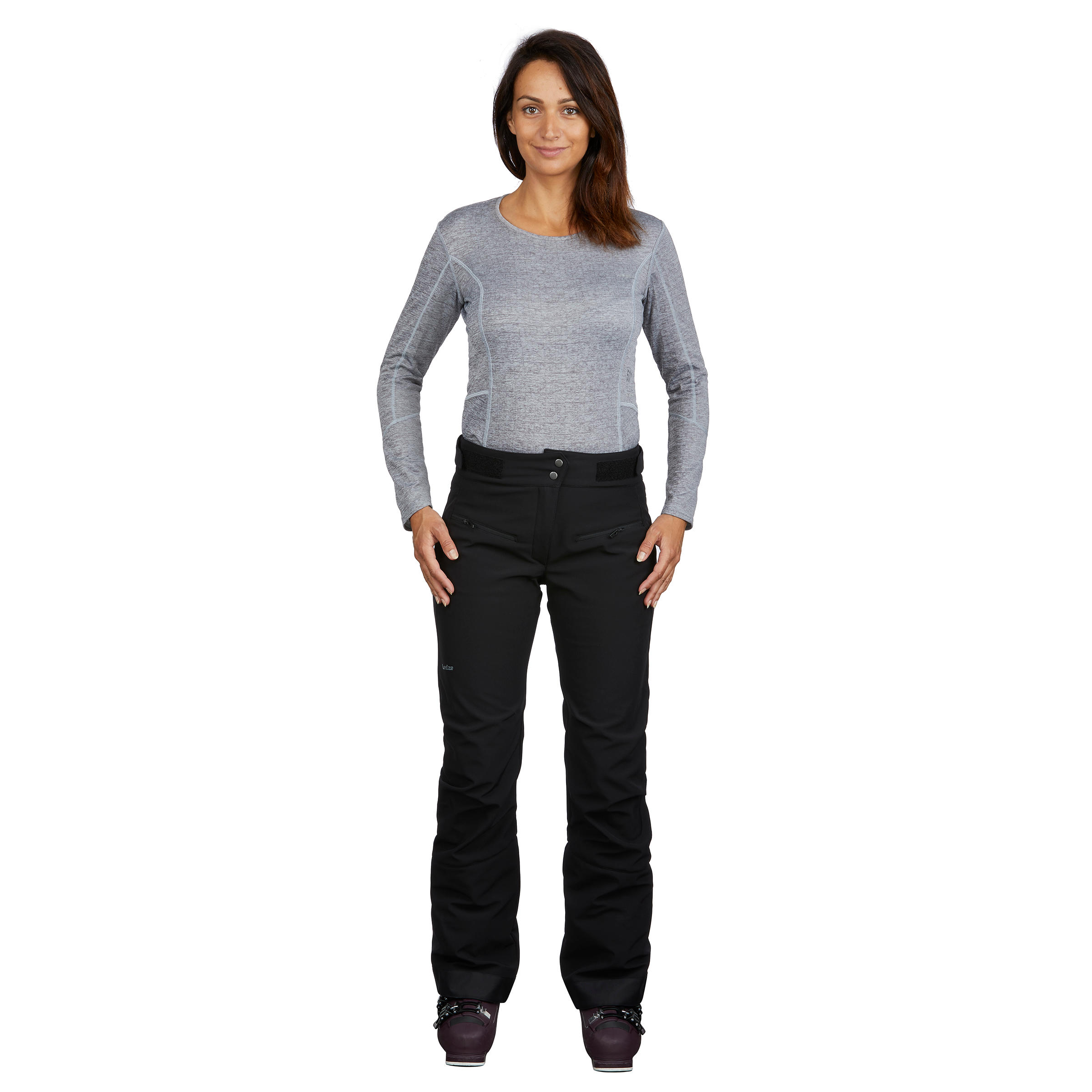 Women's Trail Skiing Pants Ski-P PA 580 Slim - Black