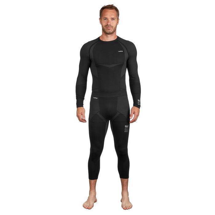 Sous-vêtement bas de ski homme 900 Noir Gris