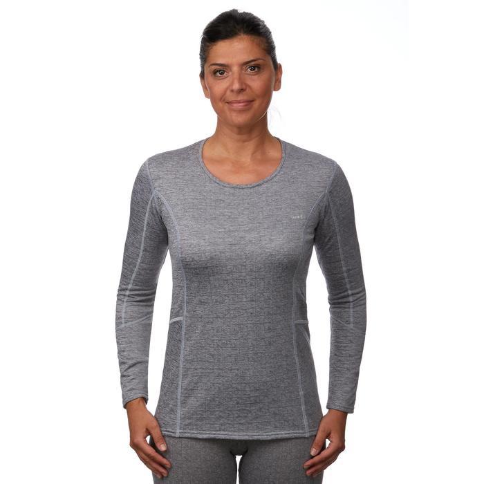 Camiseta de esquí mujer 500 gris