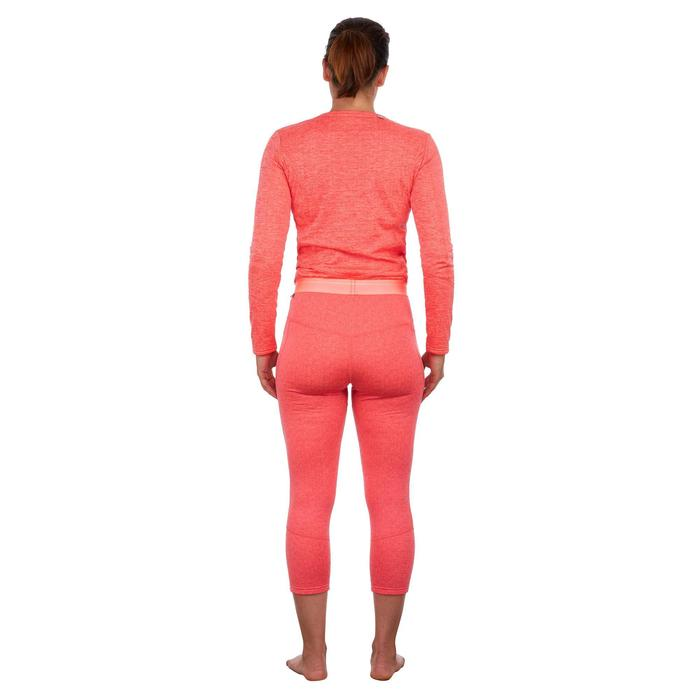 Pantalón de esquí mujer 500 coral