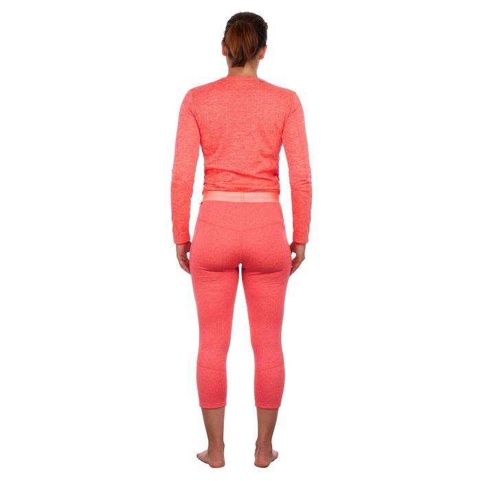 Sous-vêtement bas de ski femme 500 Corail