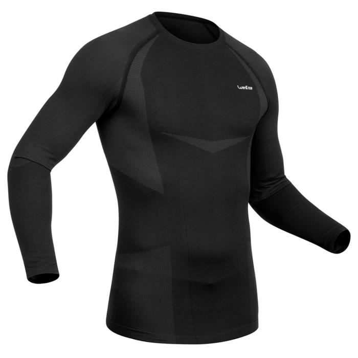 Camiseta de esquí hombre 900 negro/gris