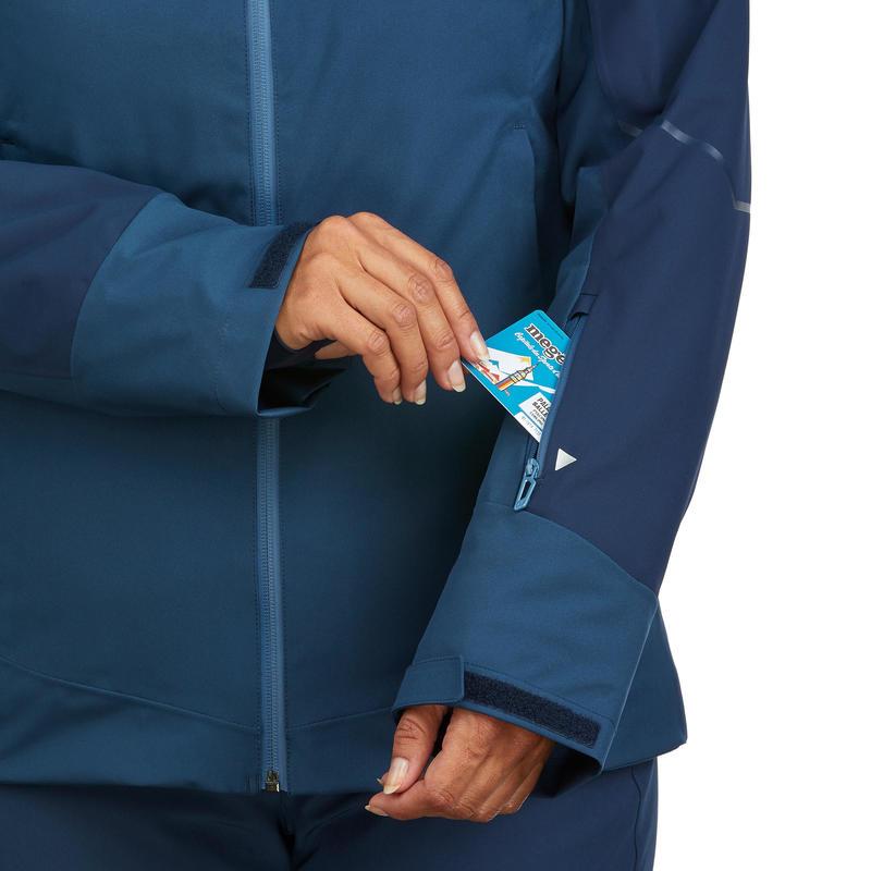 WOMEN'S DOWNHILL SKI JACKET 580 - BLUE