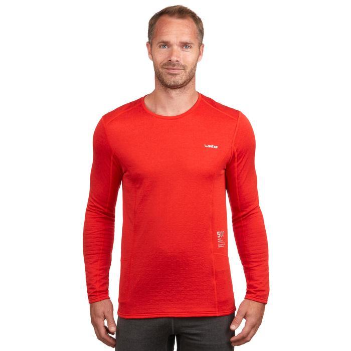 Camiseta térmica interior nieve y esquí Wed'ze 500 hombre rojo