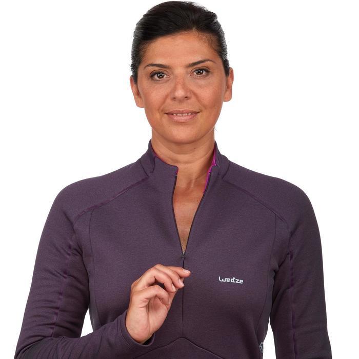 Sous-vêtement haut de ski femme MD 500 prune