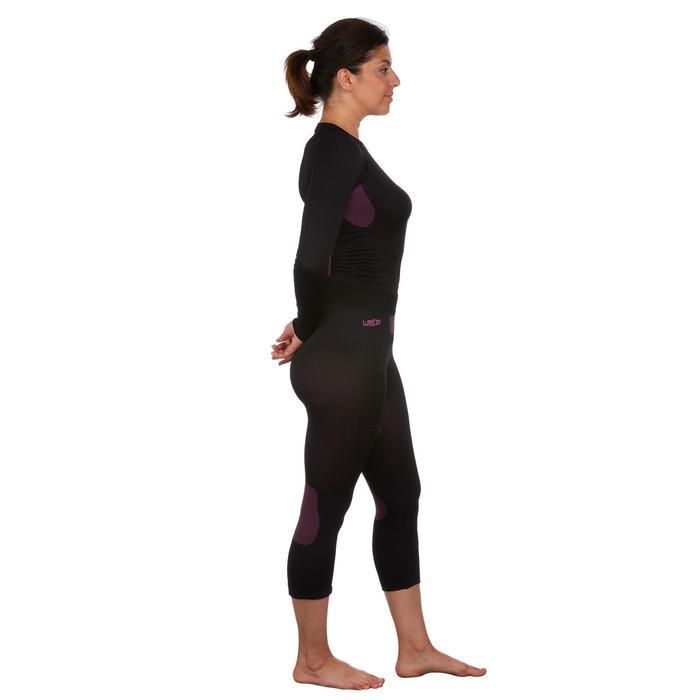 Sous-vêtement de ski femme 580 I-Soft bas noir/violet