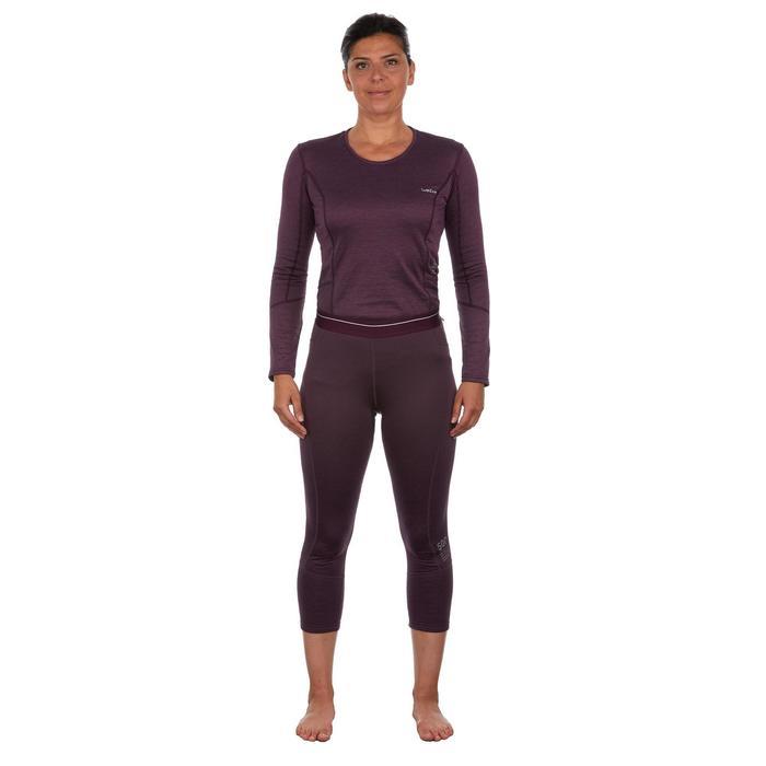 Sous-vêtement bas de ski femme 500 Prune