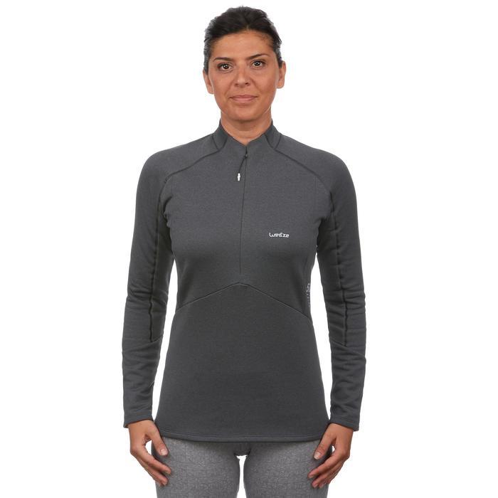 Camiseta de esquí mujer MD 500 negro