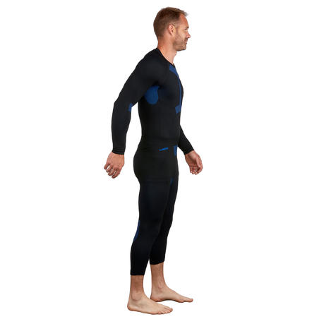 Men's Ski Base Layer Bottom 580 I-Soft - Black/Blue