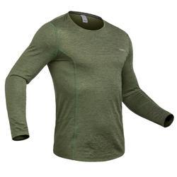 Camiseta de esquí hombre 500 verde