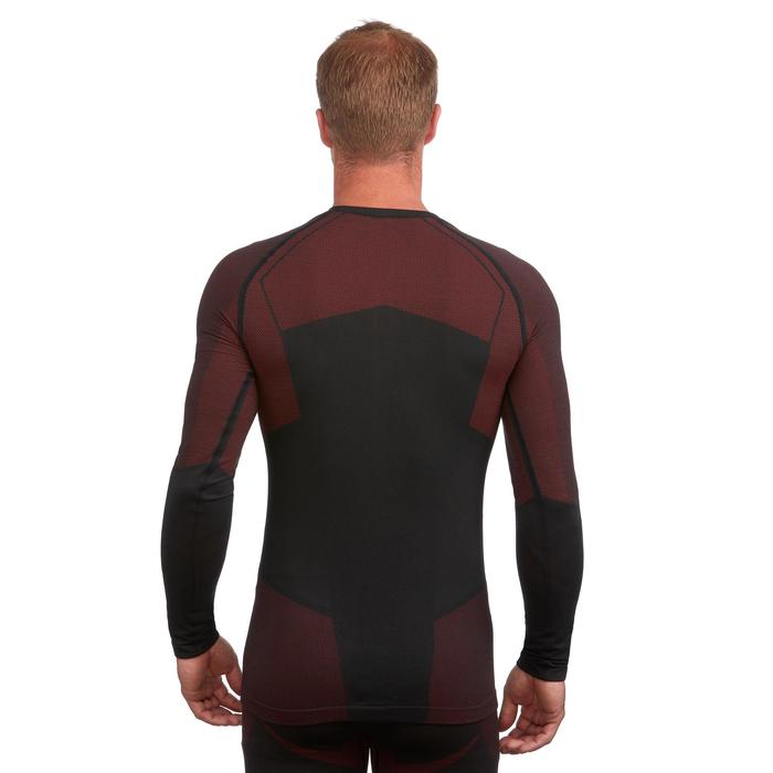 Skiondershirt voor heren 900 zwart rood