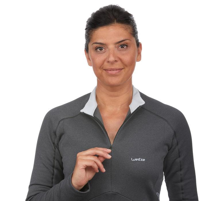 Thermisch ondershirt MD 500 voor skiën dames zwart