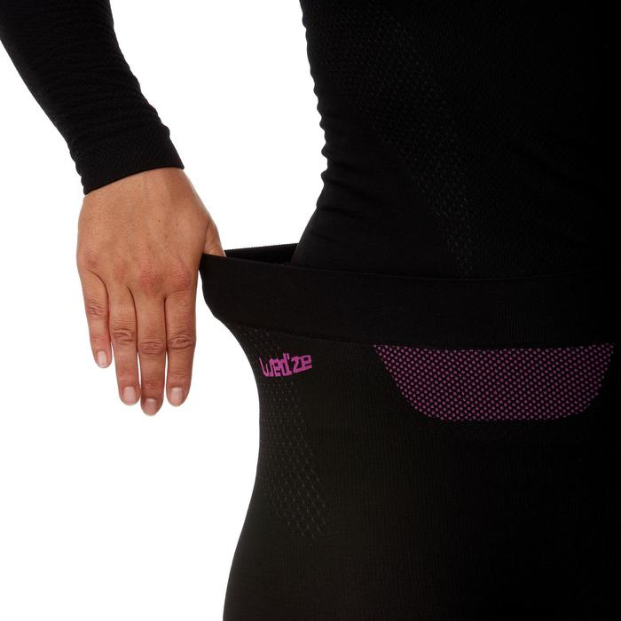 女款底層滑雪長褲I-Soft - 黑色
