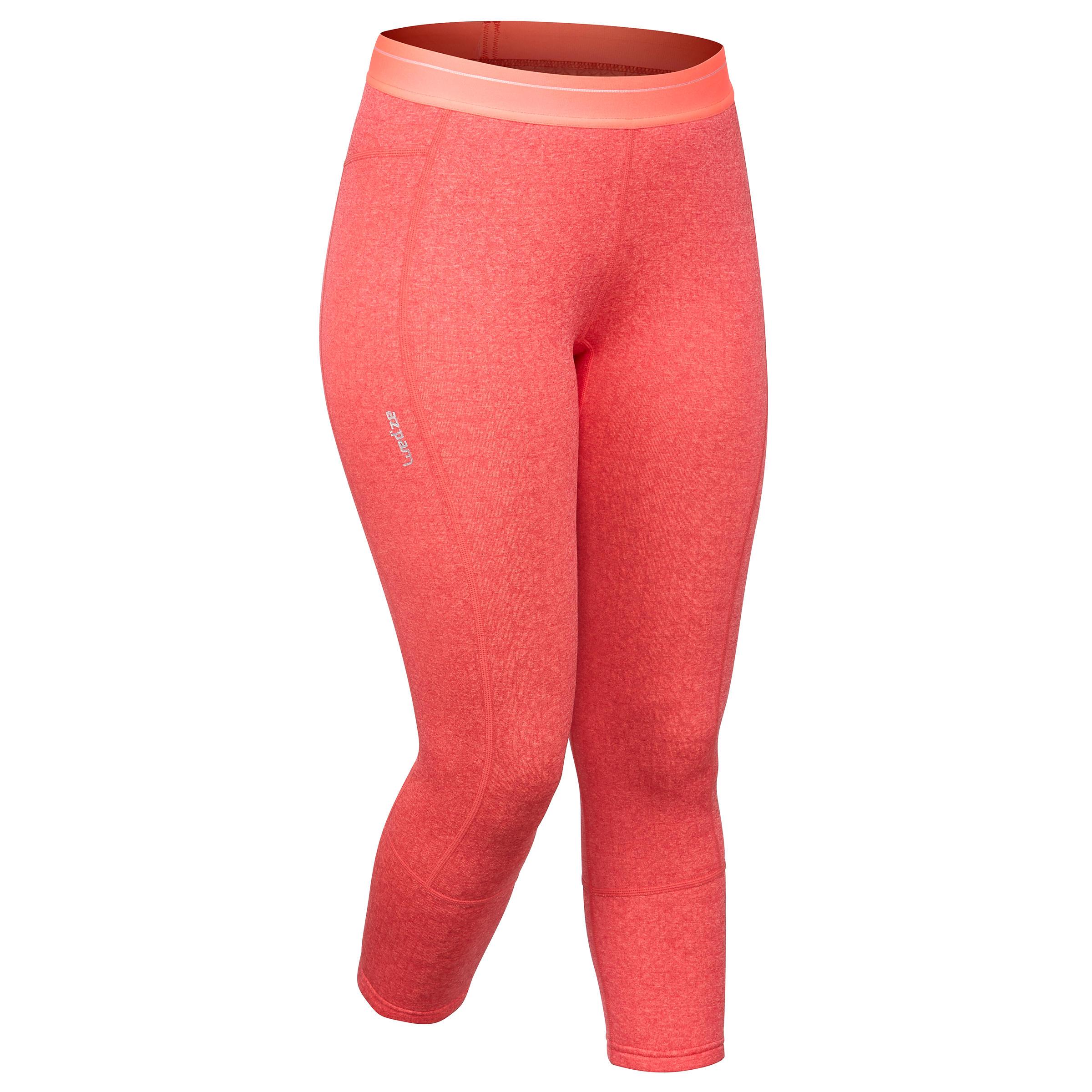Skiunterhose 500 Damen koralle | Sportbekleidung > Funktionswäsche > Thermounterwäsche | Rot - Rosa | Polyester | Wed´ze