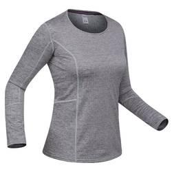 女款滑雪底層上衣500 - 灰色