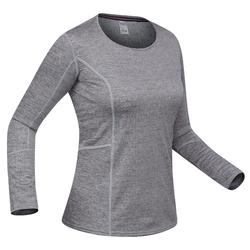 Thermoshirt dames winter voor 500 grijs