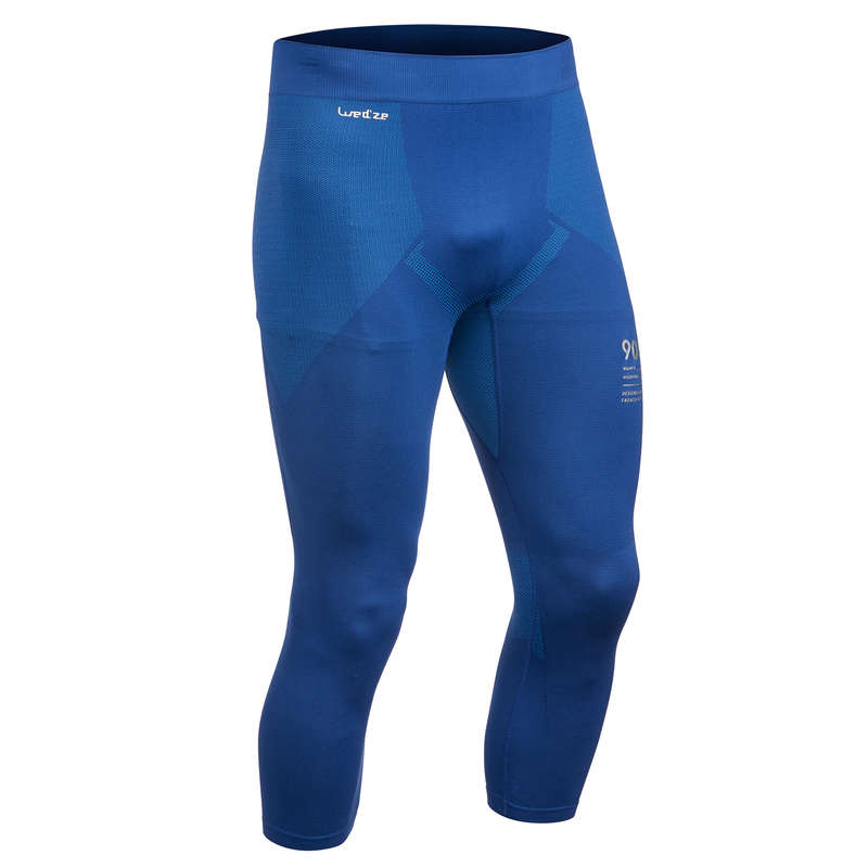 MEN SKI BASELAYER & PULL - 900 M SBL Bottoms - Blue WEDZE