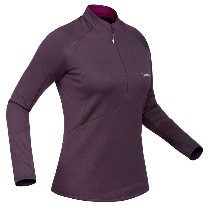 WOMEN SKI BASELAYER & PULL Skiing - W Skiing 2nd layer 500 - Plum WEDZE - Ski Wear