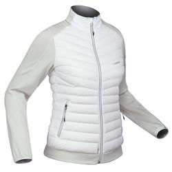 Chaqueta Plumífero Térmica de Esquí Y nieve Mujer Wedze Couche 900 Blanco