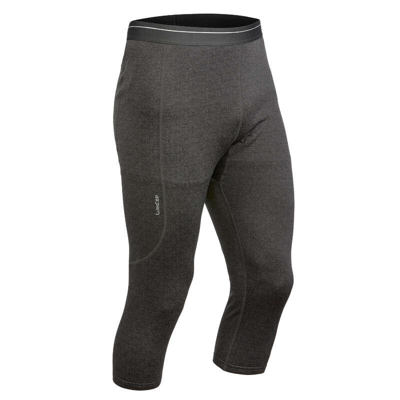 MEN SKI BASELAYER & PULL Ski Wear - M Base layer bottoms 500 - Gry WEDZE - Ski Wear