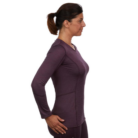 Women's Base Layer Ski Top 500 - Coral