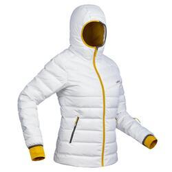 Skijacke Daunen 500 Warm Damen weiß