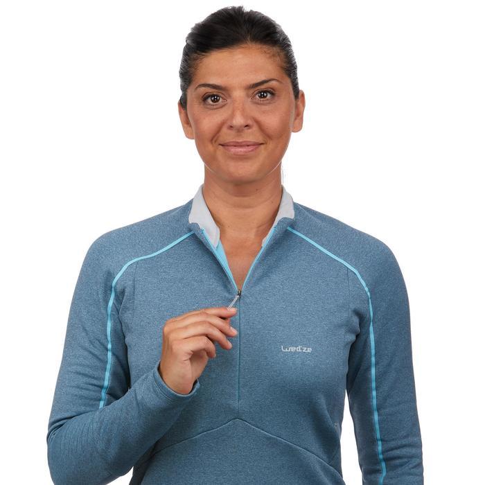 Damesmidlayer voor skiën 500 blauw