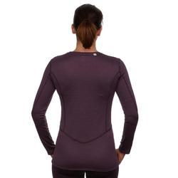 Sous-vêtement de Ski Femme Haut 500 Prune
