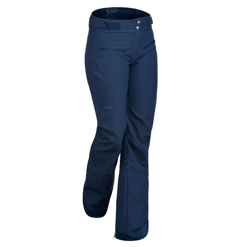 WOMEN'S JACKETS OR PANTS INTERMED SKIERS Ski Wear - W PANTS SKI-P 580 SLIM - NAVY WEDZE - Ski Wear