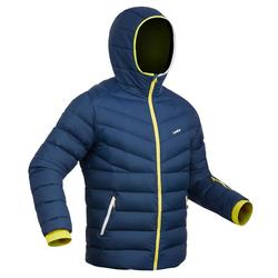 Skijacke Daunen Piste 500 Warm Herren blau