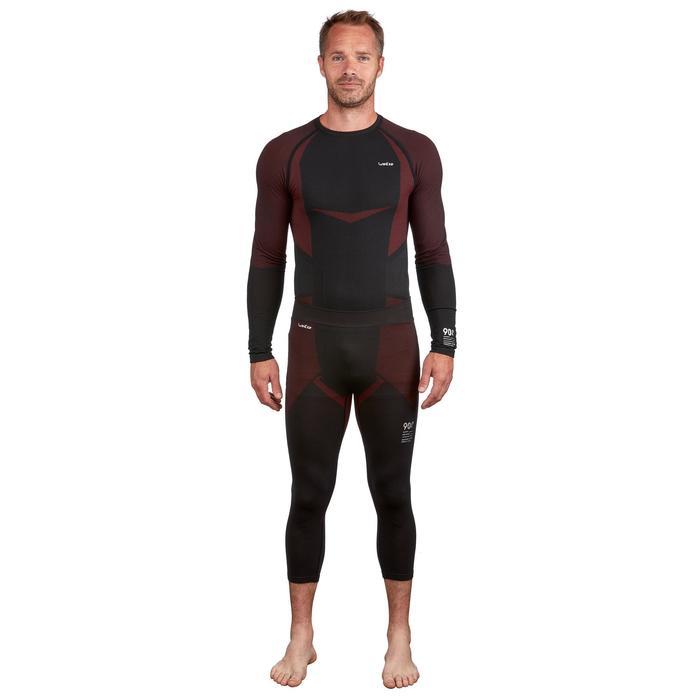 Sous-vêtement bas de ski homme 900 Noir Rouge